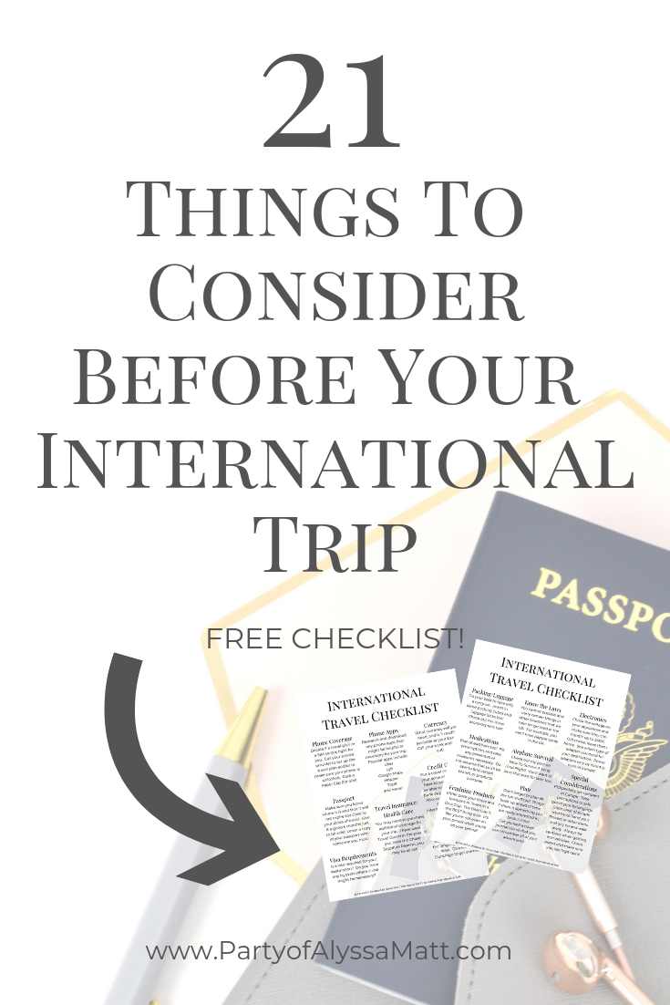 21 Things To Consider Before Your International Trip pin