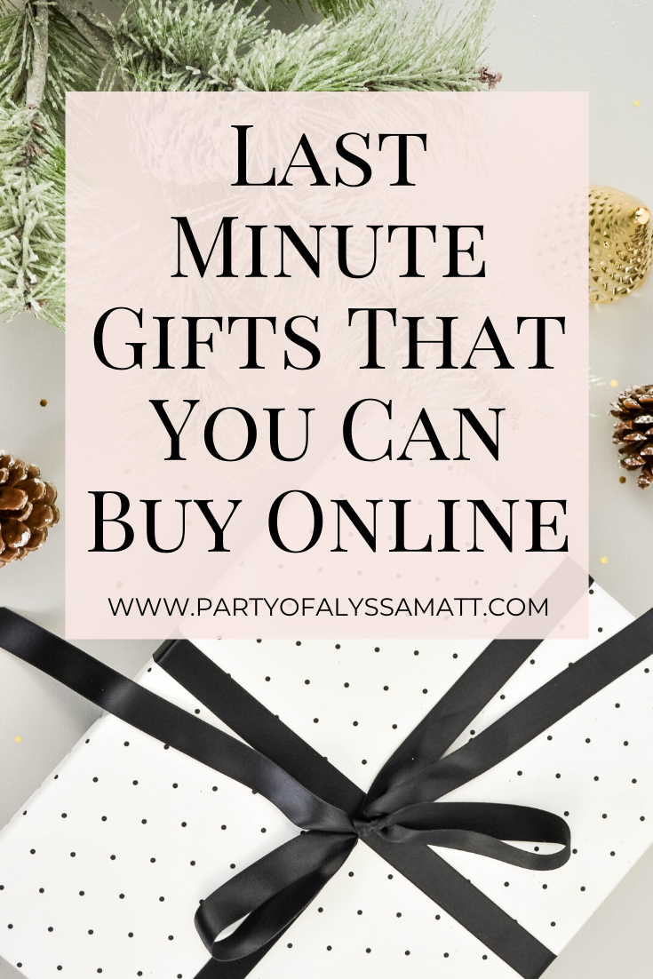 Last Minute Gifts That You Can Buy Online pin