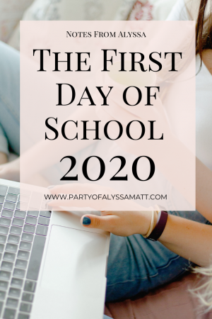 on the first day of school 2020 edition pin