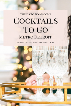 Cocktails To Go in Metro Detroit Pin