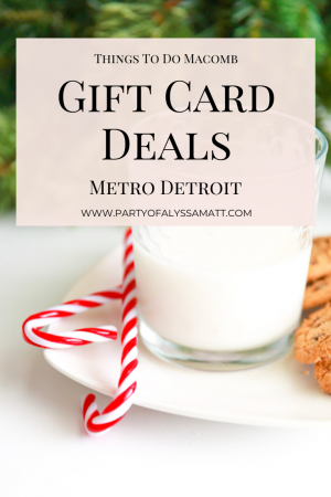 Gift Card Deals in Metro Detroit pin