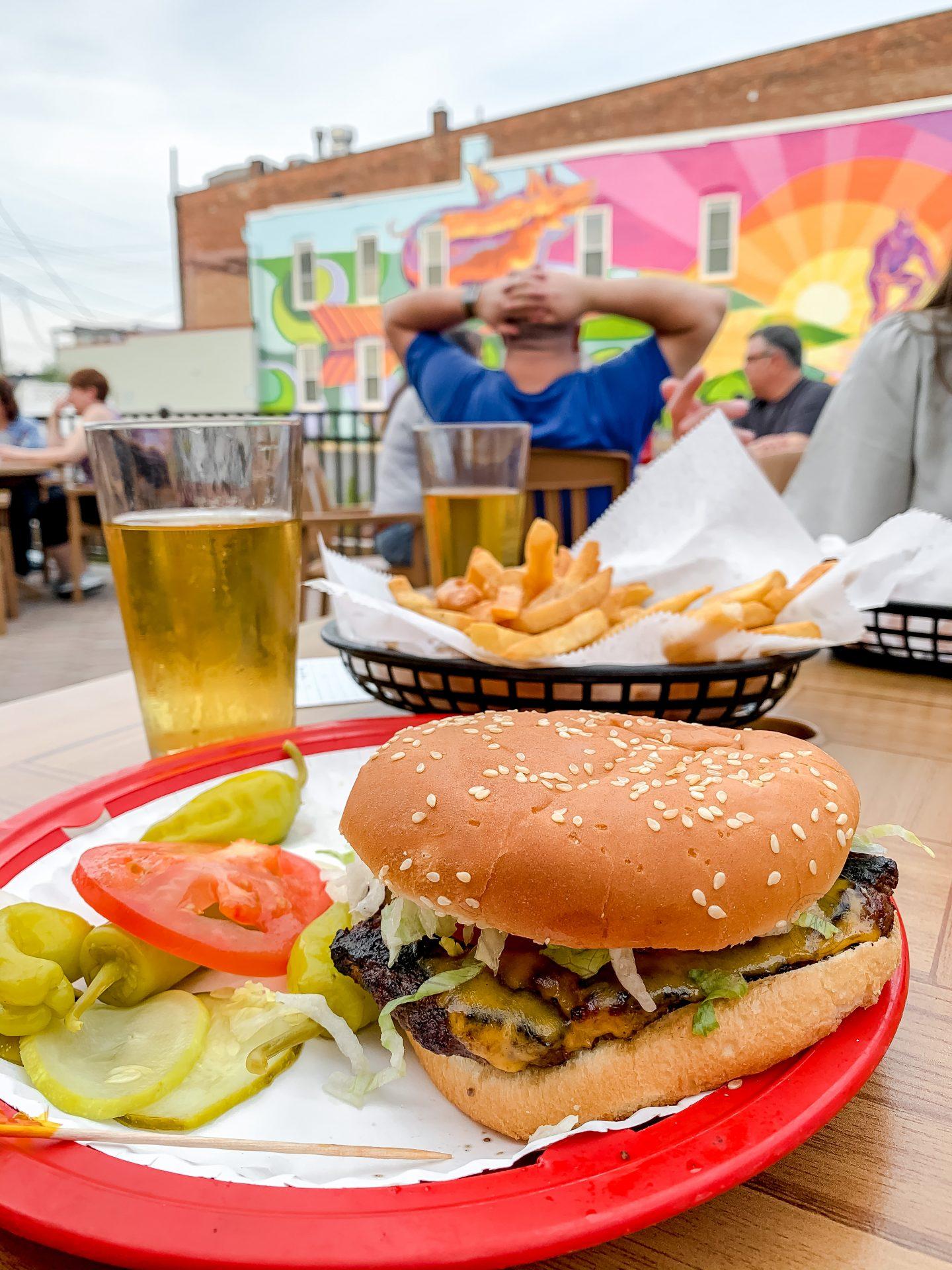 shamrock utica burger and mural
